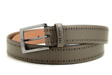 Ted Baker Classic Mens Leather Belt Grey Size 34