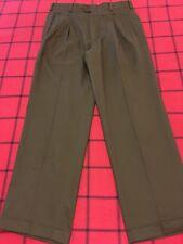 NINO CERRUTI MADE IN USA MEN'S W 34 X 30 DARK BROWN/SABLE SEMI-KHAKI CHINO PANTS