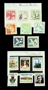 COSTA RICA UIT OIT AIRMAIL FAMOUS PEOPLE 14v MINT STAMPS