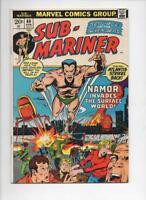 SUB-MARINER #60, VG/FN, Mooney, New York Invasion, Marvel, 1968 1973