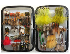 Bass and Trout Fly Fishing Flies w/ Box - Dry, Wet, Nymph, Streamer Assortment