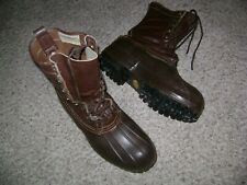 L L Bean Insulated boots, vibram sole, men's, size 10m, EUC! 8 eyelets.