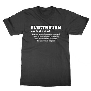 Electrician definition t-shirt funny tee job sparky statement present gift