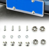 4 Set Car Auto Chrome License Plate Frame Security Screw Bolt Cover Accessories