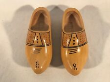 Old Vintage Hand Carved Hand Painted Dutch Wooden Shoes Clogs Holland ~ 27cm