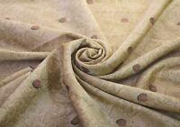 Vintage Beige Brown Saree 100% Pure Silk Printed Sari 5 Yd Fabric Decor Craft