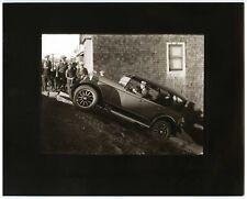 "1920s CAR & GROUP of BOYS on STEEP SAN FRANCISCO COBBLESTONE STREET~8""x10"" PHOTO"