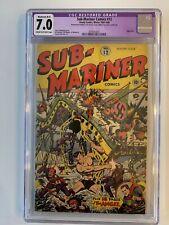 Sub-Mariner Comics #12 (1943)- Timely Comics - CGC 7.0 - Alex Schomburg cover