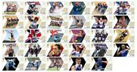 Full Collection of 29 Single Editions 2012 Team GB Gold Medal Winner Stamps
