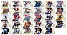 Collection complète de 29 éditions unique 2012 équipe GB médaille d'or gagnant timbres