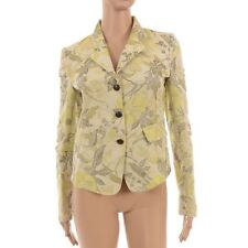 Waist Length Button Cotton Floral Coats & Jackets for Women