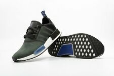 New Adidas NMD R1 Suede S75230 Olive Black Grey Blue Women\u0027s 8.5 \u003d Men\u0027s ...