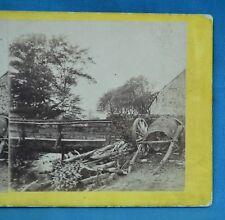1860s Stereoview Photo Bridge Cowbrook Glossop Derbyshire Petschler Manchester