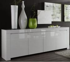Amalfi 8 - long white dresser / dining room sideboard / buffet cabinet