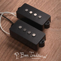 Handwound p bass pickup set fit Fender precision bass. AlNiCo5, Black covers