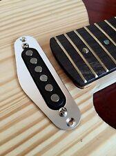 1 Modern Vintage Guitar Tele Neck Single Coil Pickup Mounting Ring Alum Silver