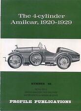 Amilcar 4 cylinder 1920-1929 Profile Publication No. 62 12 page colour booklet