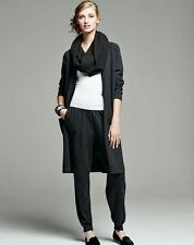 Eileen Fisher NWT178 Dark Char Slouchy Cozy Viscose Stretch Ankle Pants Sz.L.XL