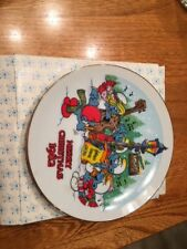 Smurfs 1982 Christmas Collectibles Smurf Carolers 1st Edition 7 inch Plate w/box