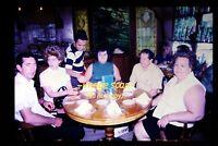 1970 Hawaii, People at Fisherman's Wharf Restaurant, Original Slide c20a