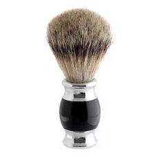 Luxury Silvertip Badger Hair Men Shaving Brush Wet Shave Removal Black Handle