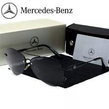 Lunettes de soleil POLARISEES noires NEUVES Benz Mercedes de type AVIATOR + étui