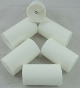6 White Wide Crepe paper EACH Streamers 80mm x 10metres quauliy decoration