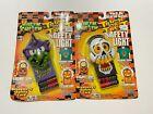 (2) Wear 'Em & Scare 'Em Trick or Treat Safety Light Halloween Skull & Witch VTG