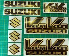 Suzuki Van Van Decals/ Stickers Rv RV125, RV 125 VanVan aftermarket Black & Gold