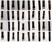 Uhrenarmband Leder Black Elysee Uhrenband Anstoß gerade 18mm 20mm 21mm 22mm 24mm