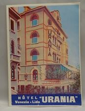 Vintage Style HOTEL URANIA VENEZIA LIDO Luggage Label Sticker