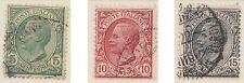 (ZN-12) 1906 Italy 3set 5c to 75c Emmanuel III
