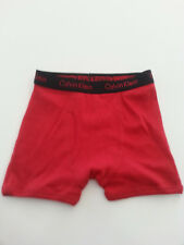Calvin Klein Boys Cotton Boxer Briefs Underwear Nwotred Xs 4/5 Fly Opening:)