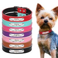 Personalisiert Hundehalsband Leder Hund Halsband Hundenamen Mit Namen Gravur