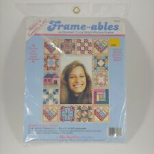 vtg DIMENSIONS Counted Cross Stitch Picture Frame Kit Hearts 'n Patchwork NEW
