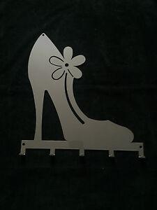 Wandgarderobe Schlüsselboard PUMPS mit 5 Haken Farbe: grau, 32 x 30,6 cm