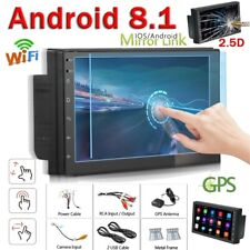 2 Din Android 8.1 GPS WIFI Bluetooth Car Stereo Radio 7'' 2.5D TFT Touch Screen