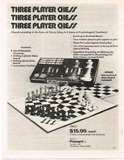 1978 Potpourri THREE PLAYER CHESS Game VTG PRINT AD