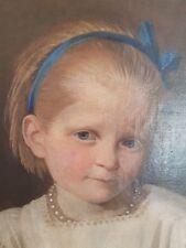 Wunderschönes original Biedermeier Ölgemälde Portrait eines Adeligen Kindes