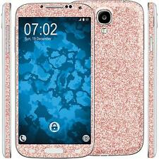 2 x glitter foil set for Samsung Galaxy S4 pink PhoneNatic protection film