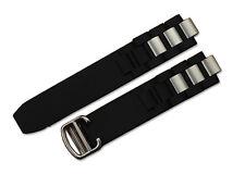20mm Black Rubber Uhrenband Faltschließe für Cartier Chronoscaph Autoscaph