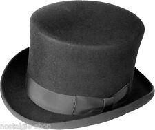Zylinder 13cm, schwarz, Wolle Hut Wollfilz Dressurreiten Gothic hat Haarfilz