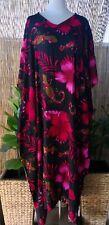 Plus Size Long Floral Polynesian Maxi Kaftan -Dress Size 16-18-20-22-24