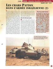 Char Tank Patton M 48 M 47 M 60 JS III Israel 2/2 FICHE FRANCE