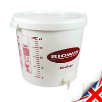 NEW 25-30 LITERS FERMENTATION BUCKET WITH TAP VESSEL HOME BREW BEER WINE CIDER
