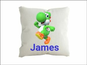 Yoshi  Personalised  cushion pillow with any name Cover only