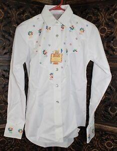 H BAR C Ranchwear Womens Western Snap Up Long Sleeve Shirt Size: 30