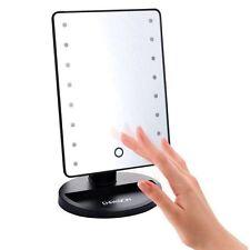 Pantalla de 16 LED táctil iluminado cuarto de baño hacer cosméticos espejo Reino Unido de afeitado rápido