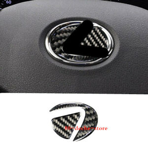 Fit For LEXUS IS250 IS300 2006-2012 Real Carbon Fiber Steering Wheel Logo Cover