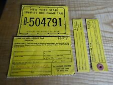 1968 New York Citizen Resident Big Game Hunting License Deer Back Tag B-504791